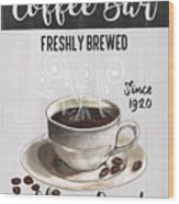Retro Coffee Shop 2 Wood Print