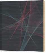 Retro Computer Graphic Line Pattern Wood Print