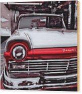 Retro Diner Wood Print