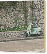 Retro Italian Scooter Wood Print