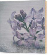 Retro Lilac Flower Wood Print