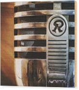 Retro Microphone Wood Print