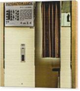 Retro Photo Booth Wood Print