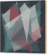Retro Polygon Pattern Wood Print