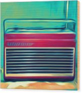 Retro Radio Wood Print