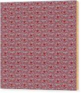 Retro Red Pattern Wood Print