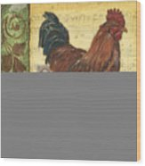 Retro Rooster 2 Wood Print