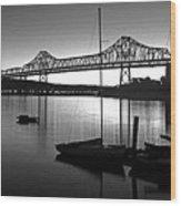 Retro San Francisco Oakland Bay Bridge Wood Print