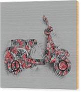 Retro Scooter 4 Wood Print