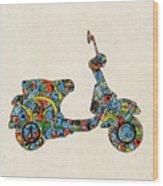 Retro Scooter Wood Print