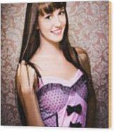 Retro Showgirl Wood Print
