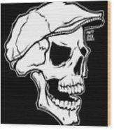 Retro Skull Wood Print