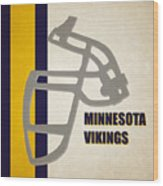 Retro Vikings Art Wood Print