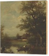 Return Of The Fisherman Wood Print