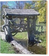 Return To Bridge Park Wood Print
