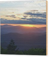 Returning Sunset Great Smoky Mountains Wood Print