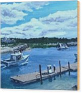 Returning To Sesuit Harbor Wood Print