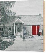 Retzlaff Winery With Red Door No. 2 Wood Print