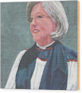 Reverend Mary Gregorius Wood Print