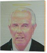 Reverend Pat Robertson Wood Print
