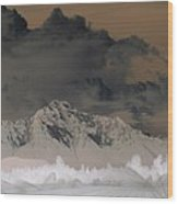 Reverse Landscape Wood Print
