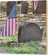 Revolutionary War Veteran Wood Print