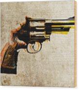 Revolver Wood Print by Michael Tompsett