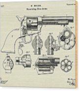 Revolving Fire Arm-1875 Wood Print