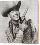 Rex Allen, Vintage Actor Wood Print