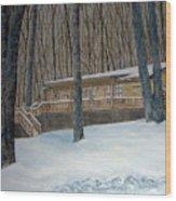 Rex Cabin Wood Print