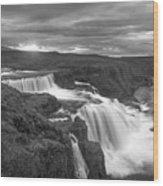 Reykjafoss Waterfall Iceland 3996 Wood Print