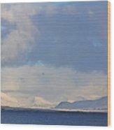 Reykjavik Bay, Blue Sea, Clouds , Shadows, Mountains,  Iceland 2 2102018 2262 Wood Print