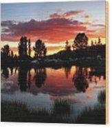 Reymann Lake Sunset - Yosemite Wood Print