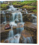 Reynolds Mountain Waterfall Wood Print