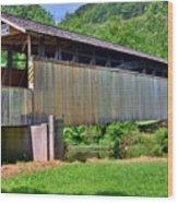 Claycomb Covered Bridge Wood Print