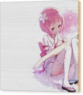 Rezero -starting Life In Another World- Wood Print