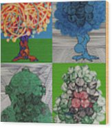 Rfb0502-0505 Wood Print