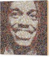 Rg3 Redskins History Mosaic Wood Print