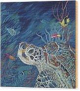 Rhapsody In Blue Wood Print by Danielle  Perry
