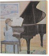 Rhapsody In Blue Wood Print