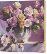 Rhapsody Of Roses Wood Print
