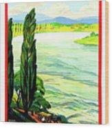 Rhine River, Alsace, France Wood Print