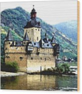 Rhine River Castle Wood Print