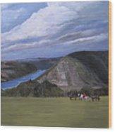 Rhine River Valley Near Loreley Wood Print
