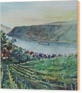 Rhine Valley Wood Print
