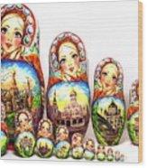 Rhinestones Of Moscow Wood Print