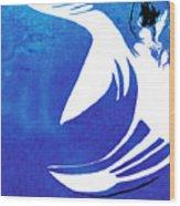 Rhino Animal Decorative Blue Poster 4 - By Diana Van Wood Print