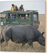 Rhino Inn Tanzania Wood Print