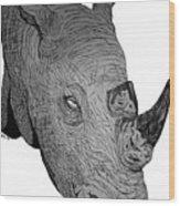 Rhino Wood Print