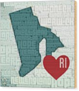 Rhode Island Cities Wood Print